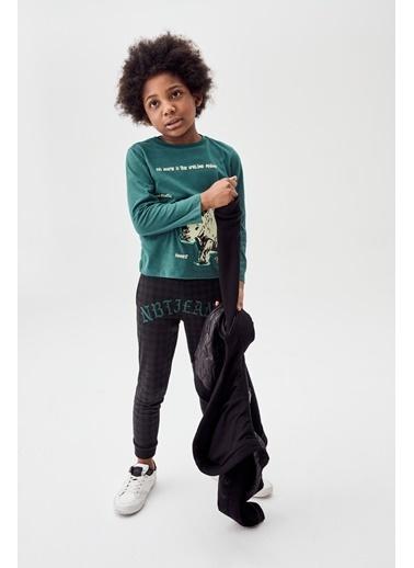 Nebbati Erkek Çocuk Yeşil T-Shirt Yeşil